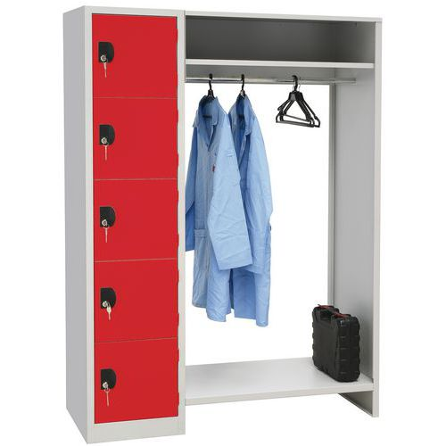 Småromskap garderobe 900 5 rom