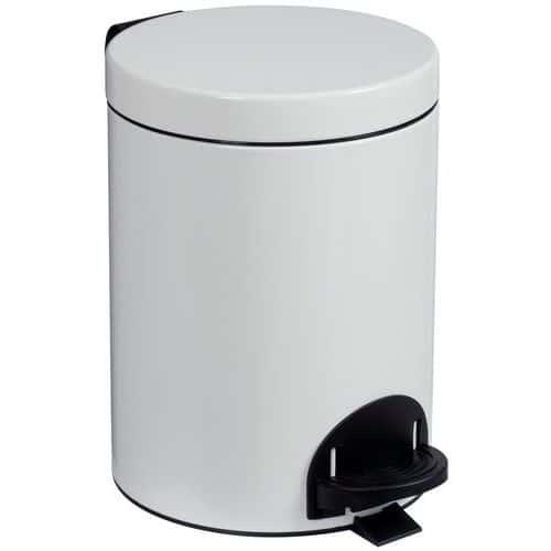 Avfallsbeholder med pedal 5 l hvit