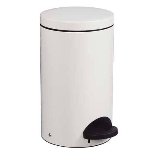 Avfallsbeholder med pedal 20 l hvit