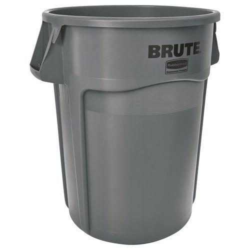 Rund Brute-beholder, grå – 38 til 208 L