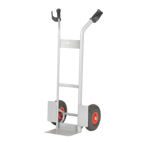 Magasintralle 280 kg Luftgummihjul, grå