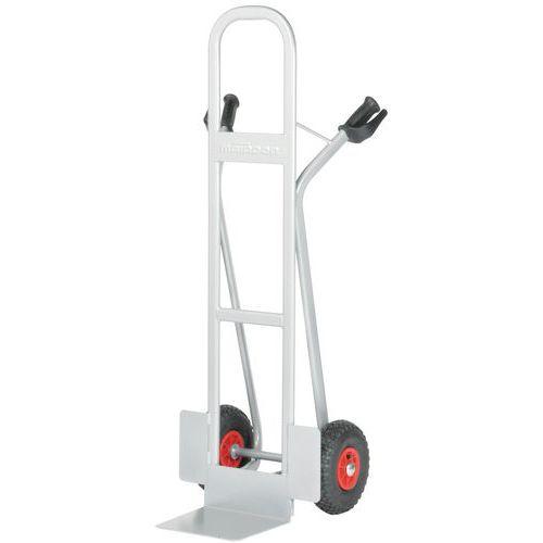 Magasintralle 350 kg høy rygg, Luftgummihjul