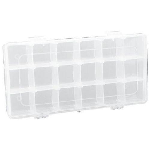 Transparent oppbevaringsboks med flyttbare skillevegger Manutan