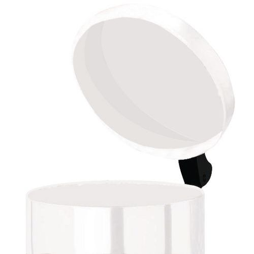 Avfallsbeholder med pedal 28 l hvit