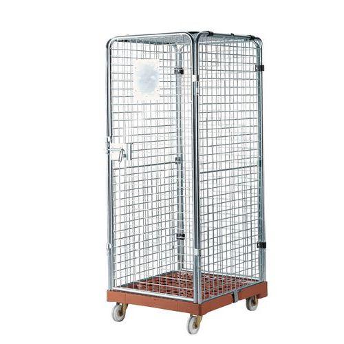 Rullecontainer plastunderstell låsbar
