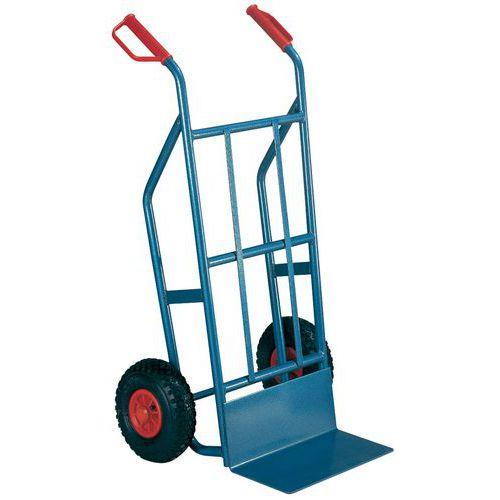 Magasintralle 500 kg Luftgummihjul, blå