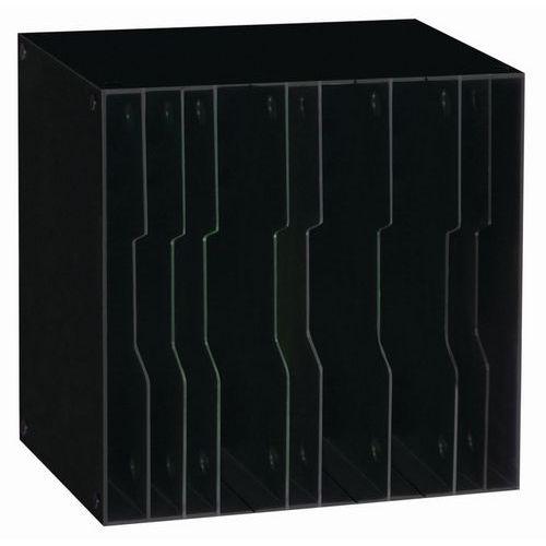 Sorteringshylle svart 12 rom