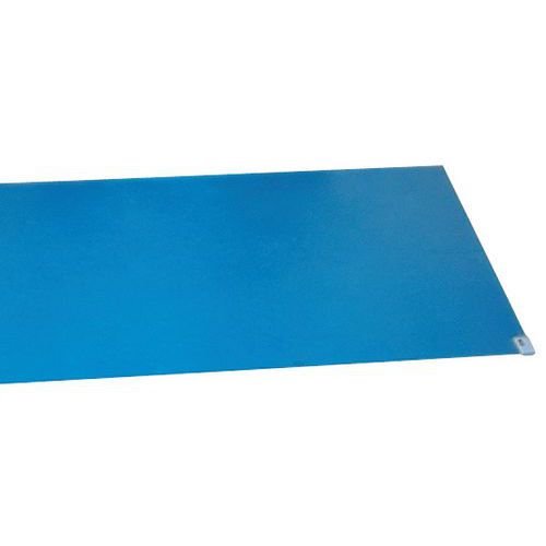 Klebematte blå