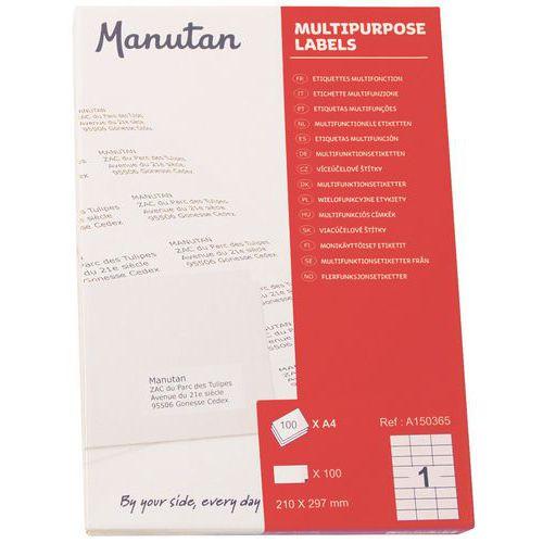 Etiketter selvklebende Manutan