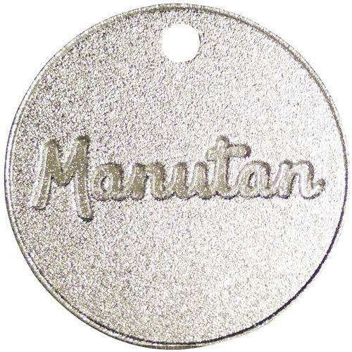Nummererte poletter fra 001 til 300 aluminium Manutan