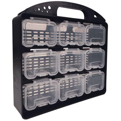 Oppbevaringsboks med 9 beholdere Manutan