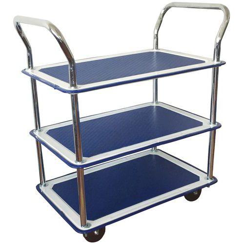 Trillebord med 3 hyller 120 kg Manutan