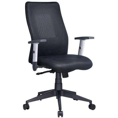 Penelope kontorstol med middels høy ryggstøtte – stoff – Manutan