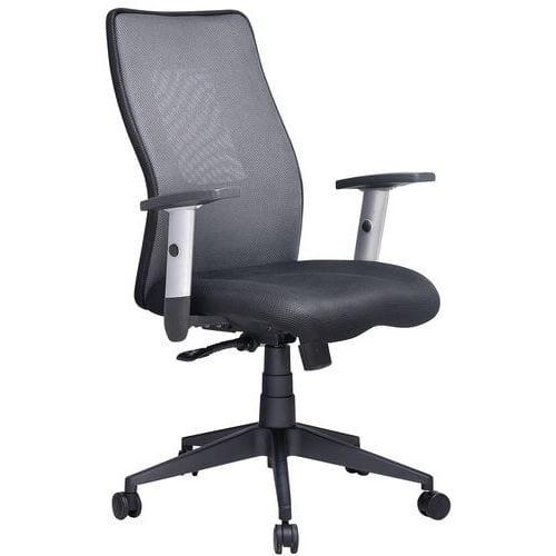 Penelope kontorstol med middels høy ryggstøtte – stoff – Manutan Kjøp fra Witre