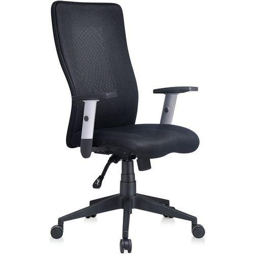 Penelope kontorstol med høy ryggstøtte – stoff – Manutan Kjøp fra Witre