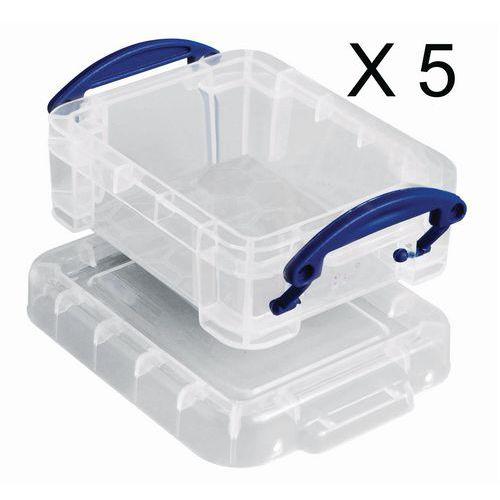 Oppbevaringsboks 0,07 - 0,14 l, 5-pack