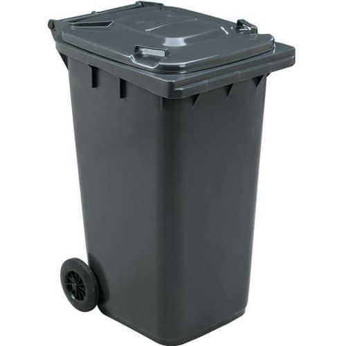 Avfallsbeholder Manutan 240 l, inkl. lokk