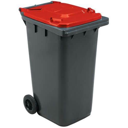 Avfallsbeholder Manutan 240 l, inkl lokk