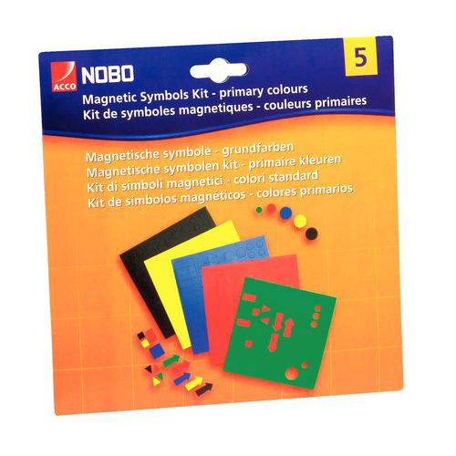 Magnetsymboler Kit med 5 farger, 81 stk