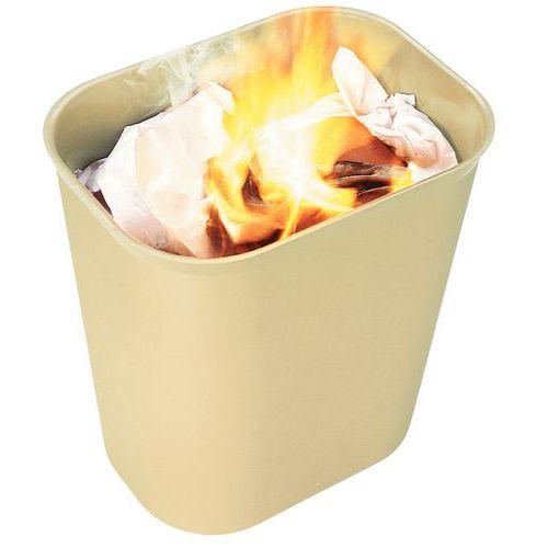 Brannsikker søppelbøtte beige