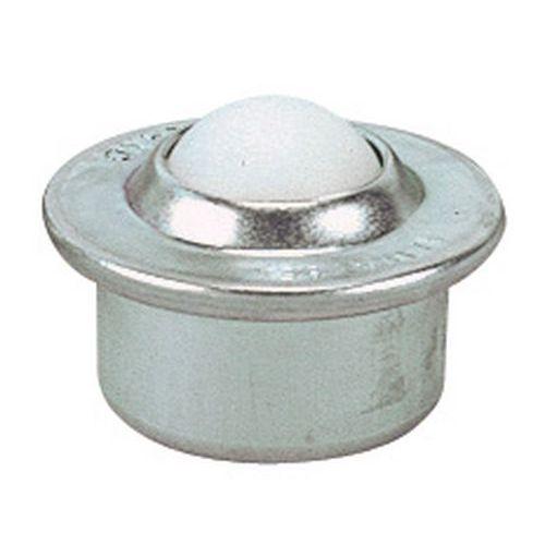 Kulerulle med plastkule, diameter 15-22 mm