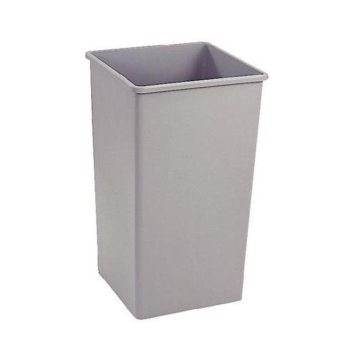 Firkantet-søppelbøtte av plast – 87 L