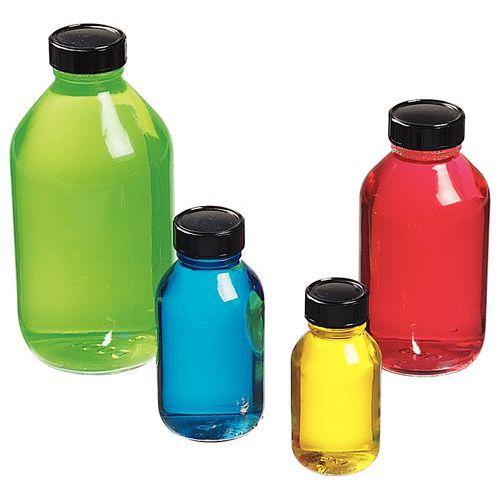 Glassflaske bred åpning