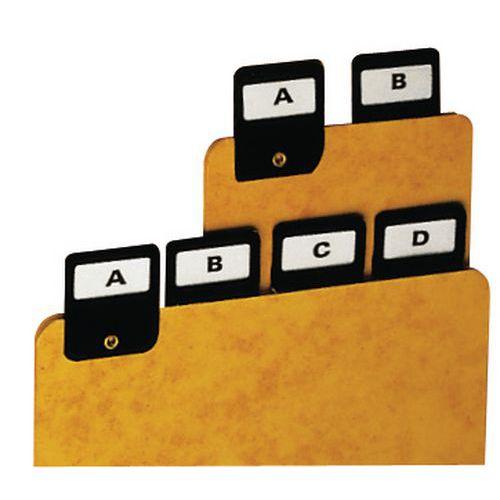 Register alfabet A4-A6, 25 st