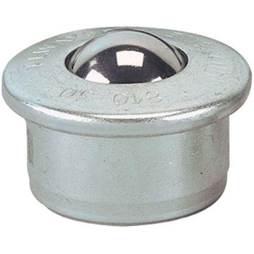 Kulerulle med stålkule, diameter 15-30 mm