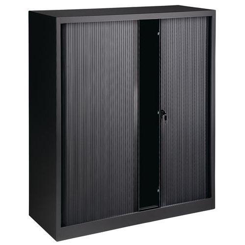 Sjalusiskap uten topplate bredde 120 cm, svart