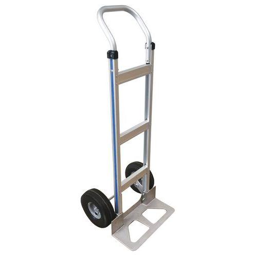 Aluminiumstralle–halvpneumatiske hjul–kapasitet 150kg