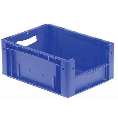 Plastbakk blå, fronten halvt åpen 16-25 l