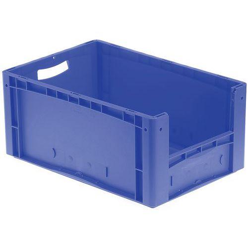 Plastbakk blå, fronten halvt åpen 44-85 l