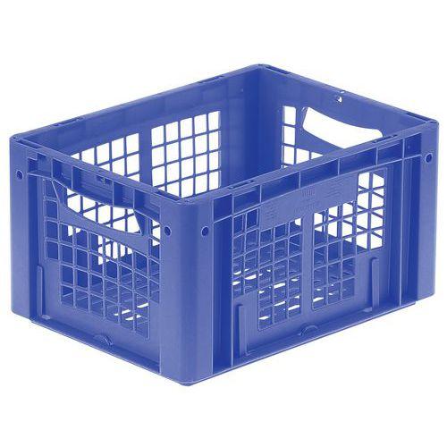 Plastbakk blå perforert 19-24 l