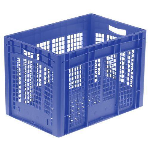 Plastbakk blå perforert 62-82 l