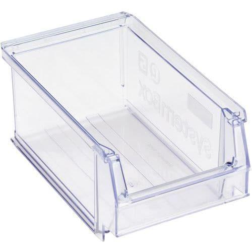 Stablebar transportkasse transparent, 1 l