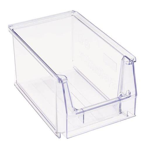 Stablebar transportkasse transparent, 3,8 l