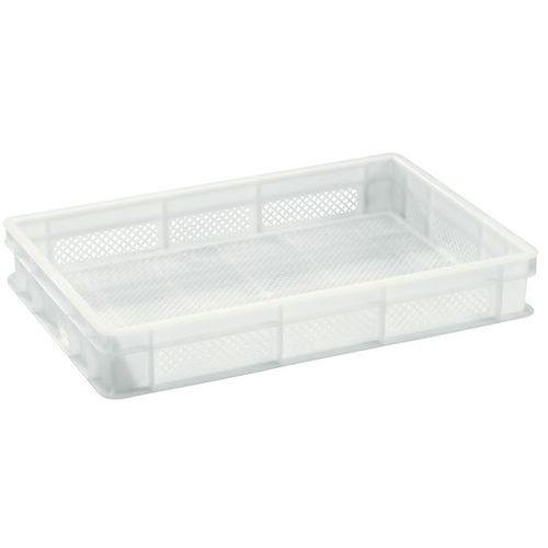 Plastbakk EU hvit perforerad 12-24 l