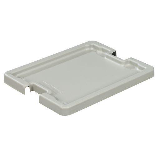 Lokk til Plastbakk for stabling hvit