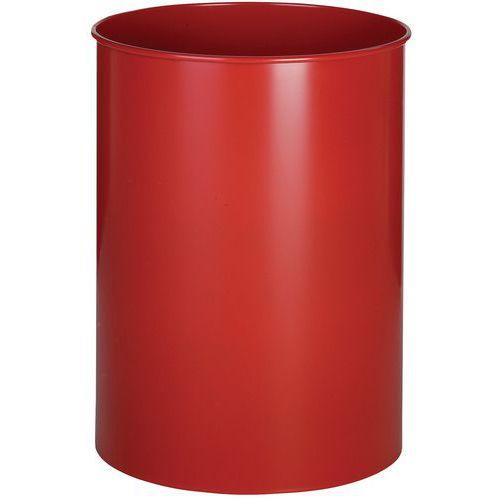 Søppeldunk rund metall 30 L