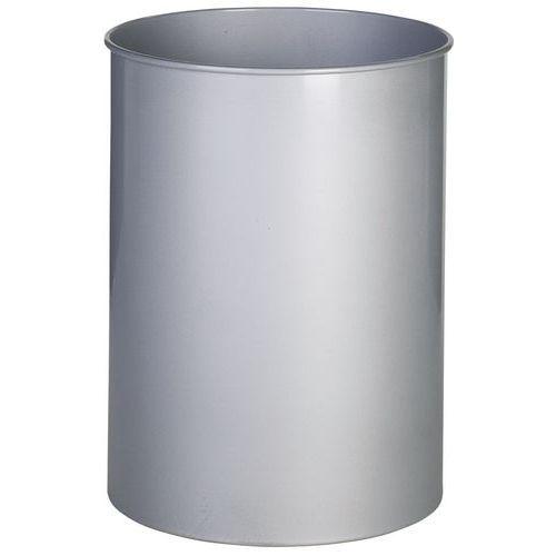 Søppeldunk rund metall 15 L