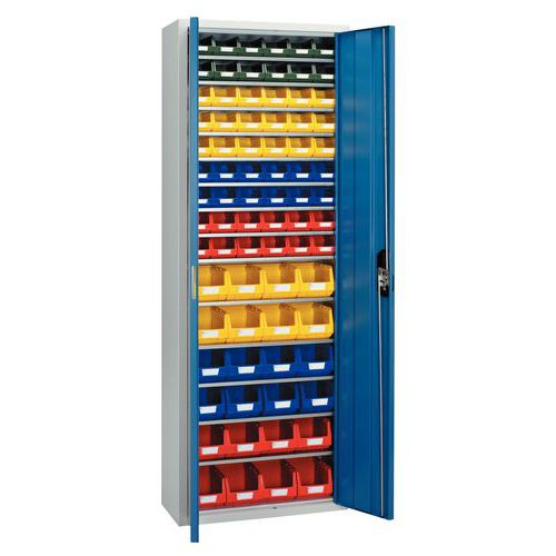 Boksskap med lås og 78 bokser