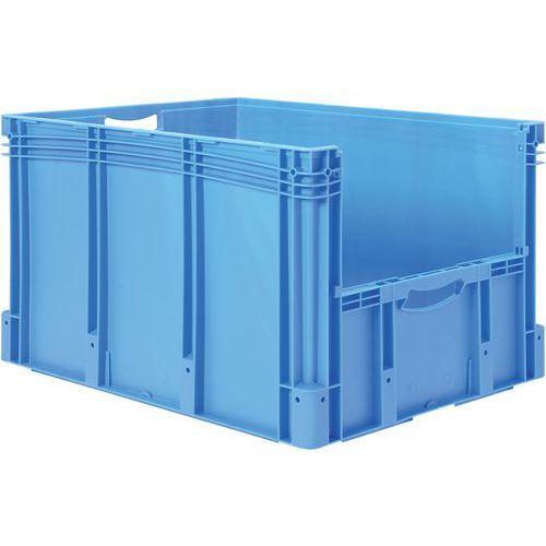 Plastbakk blå, fronten halvt åpen 174 l