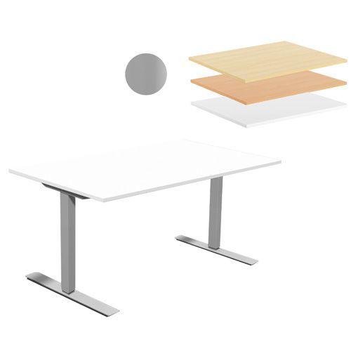 Hev- og senkbart skrivebord Two FB Rektangulært
