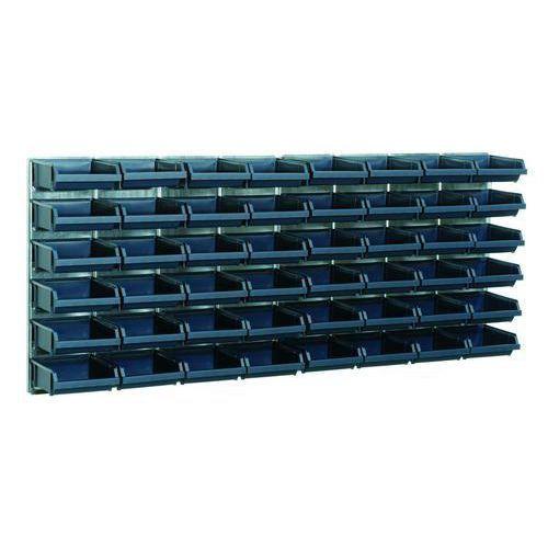 Veggpanel med Blå modulbokser