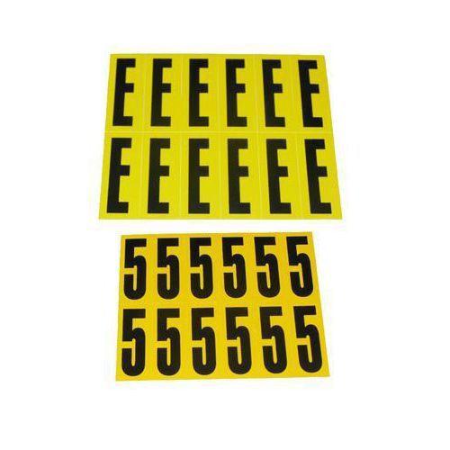 Selvheftende bokstaver og tall 21 x 56 mm