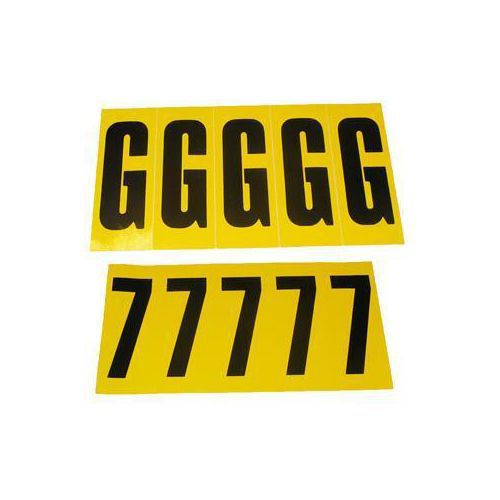 Selvheftende bokstaver og tall 45 x 130 mm