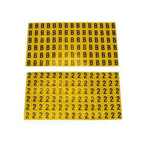 Selvheftende bokstaver og tall 8,5 x 12,5 mm