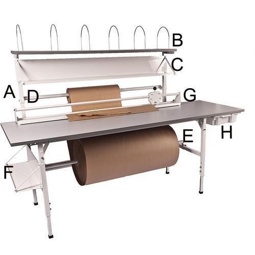 Stolpe / Kartonghylle / Blanketthylle / Aksel for papir / Hylle for tau / Skjæreagregat / Verktøykasse