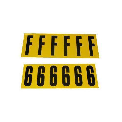 Selvheftende bokstaver og tall 38 x 90 mm